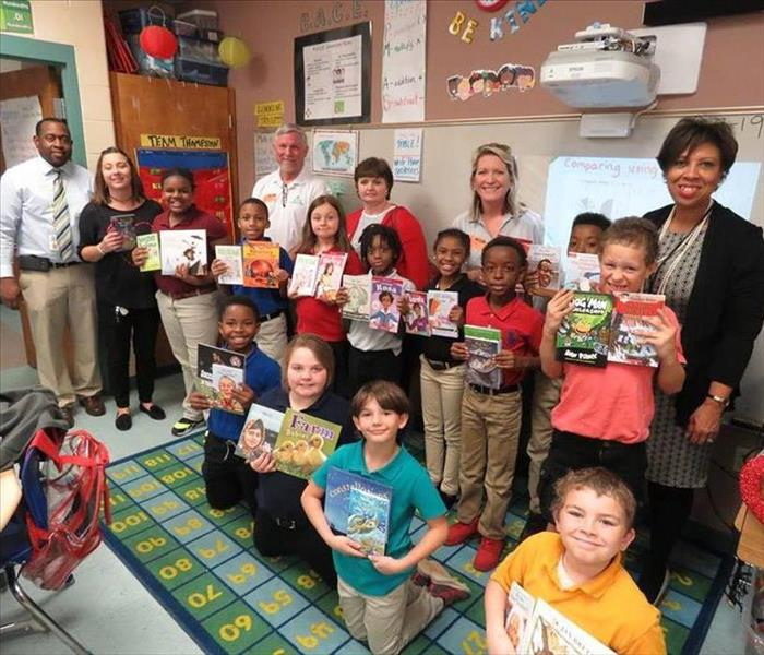 SERVPRO assists Rotary with book donations